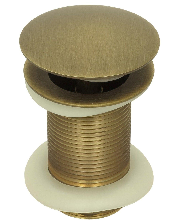 ablaufgarnitur waschbecken ablauf ventil garnitur pop up ohne berlauf in antik ebay. Black Bedroom Furniture Sets. Home Design Ideas