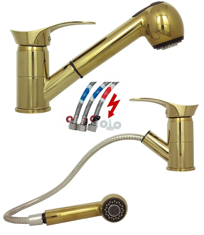 basse pression m langeur vier robinet de cuisine vier robinet robinet dor ebay. Black Bedroom Furniture Sets. Home Design Ideas