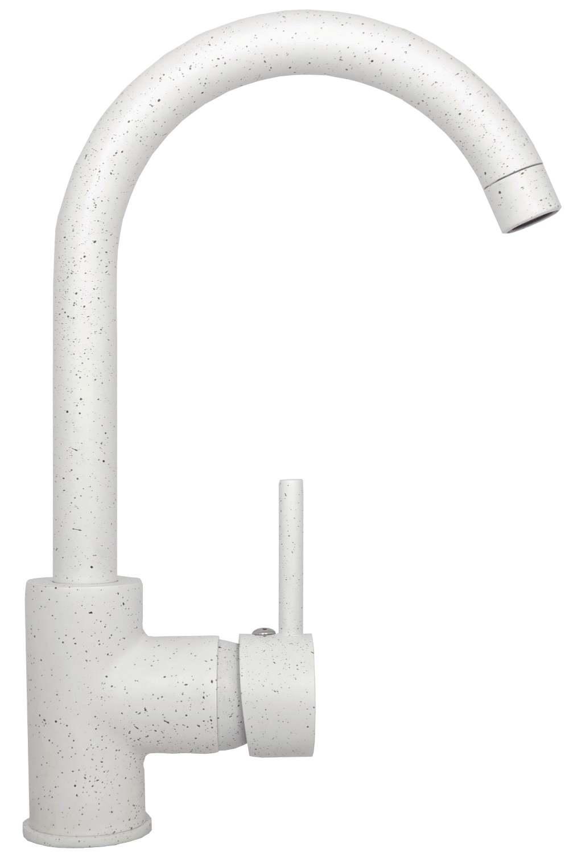 Küchenarmatur Spültischarmatur Einhebelmischer Wasserhahn Armatur Küche  Weiss