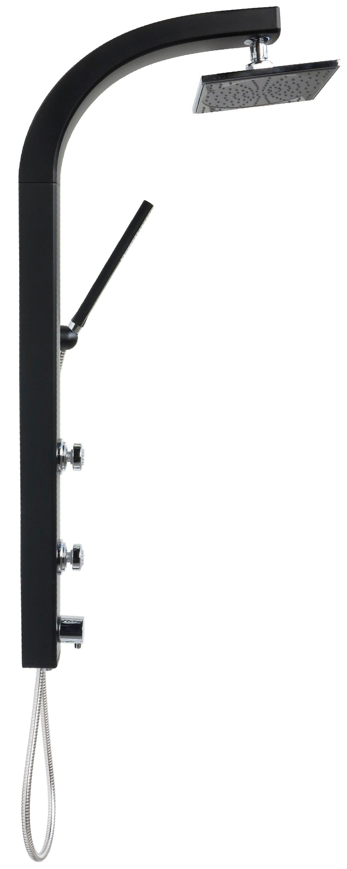 duschpaneel schwarz regendusche duschs ule duscharmatur duschset dusche massage ebay. Black Bedroom Furniture Sets. Home Design Ideas