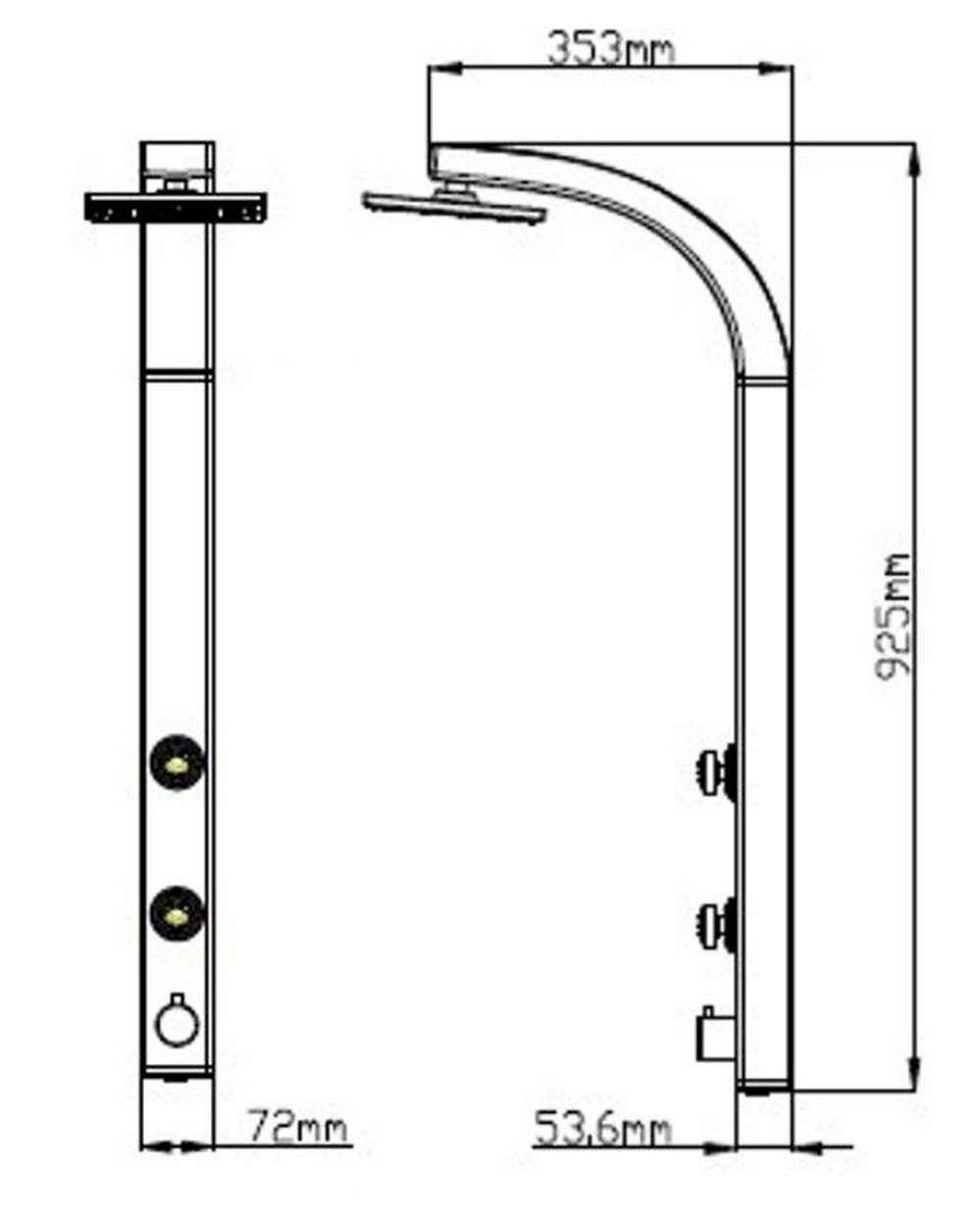 duschpaneel regendusche duscharmatur duschs ule dusche brause badarmatur silber ebay. Black Bedroom Furniture Sets. Home Design Ideas