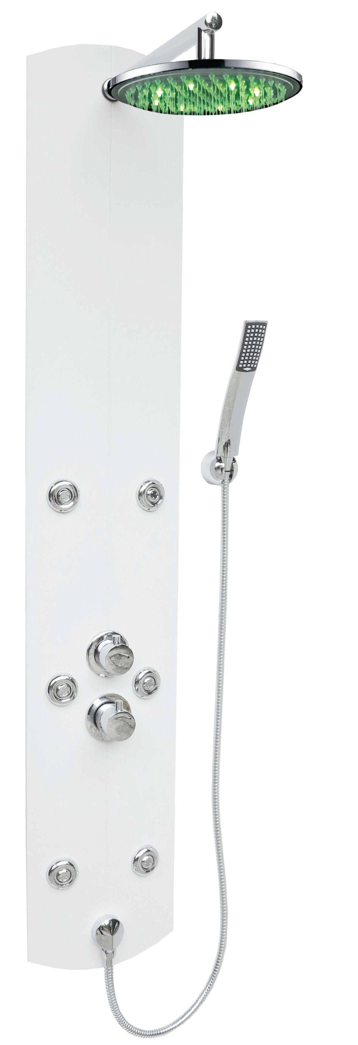 duschpaneel led regendusche duschs ule duscharmatur thermostat dusche duschset ebay. Black Bedroom Furniture Sets. Home Design Ideas