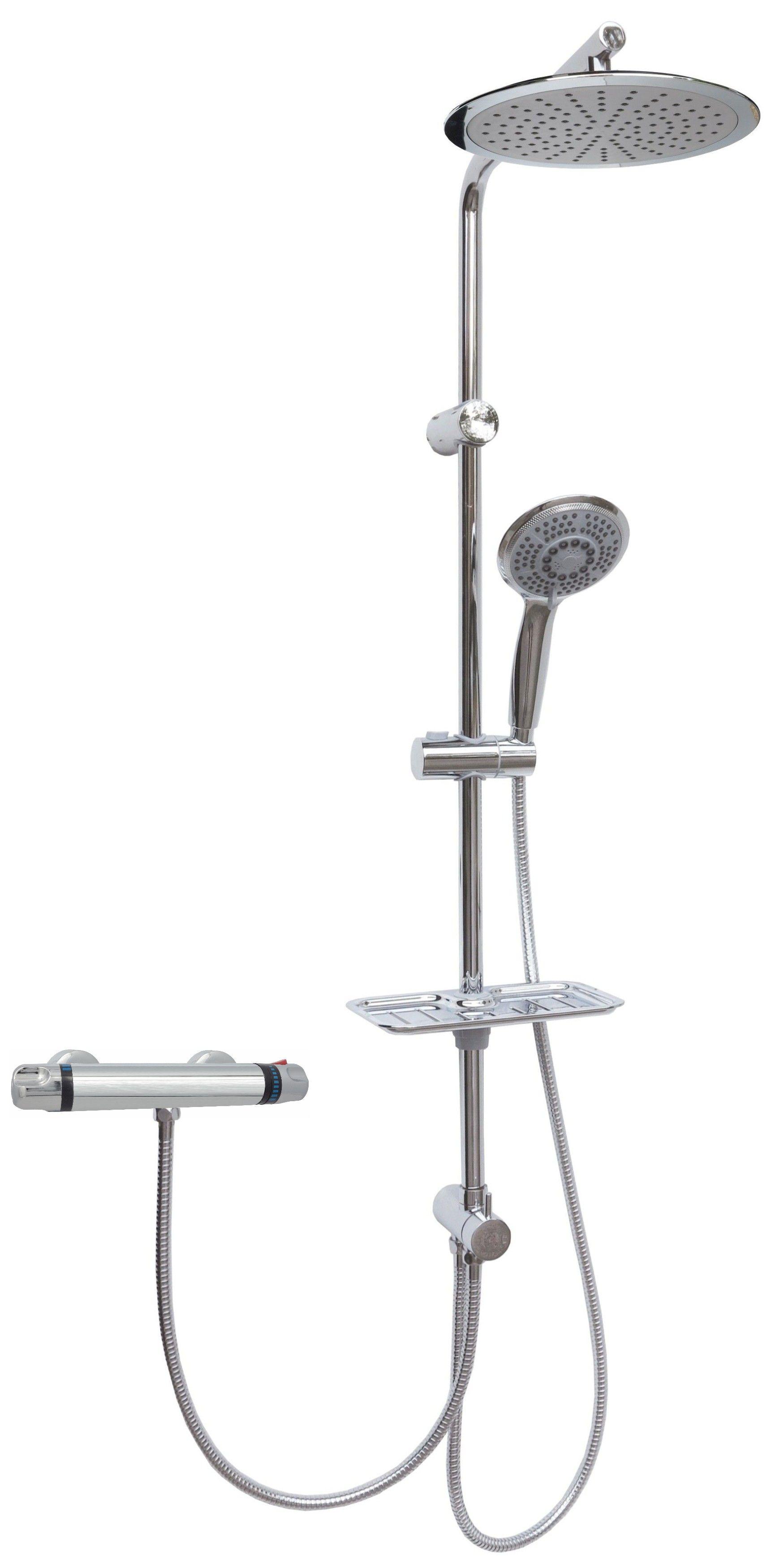 thermostat duscharmatur duschset regendusche duschsystem duschkopf handbrause ebay. Black Bedroom Furniture Sets. Home Design Ideas