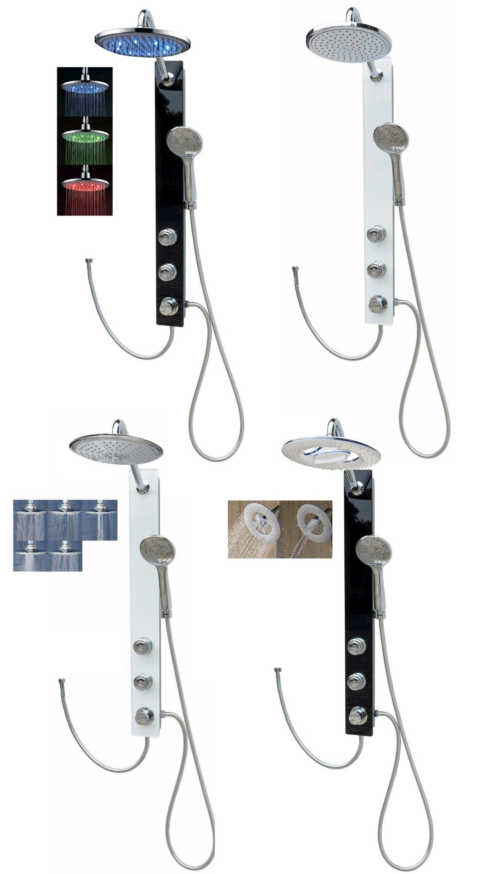 verre paroi de douche colonne panneau ensemble pluie. Black Bedroom Furniture Sets. Home Design Ideas