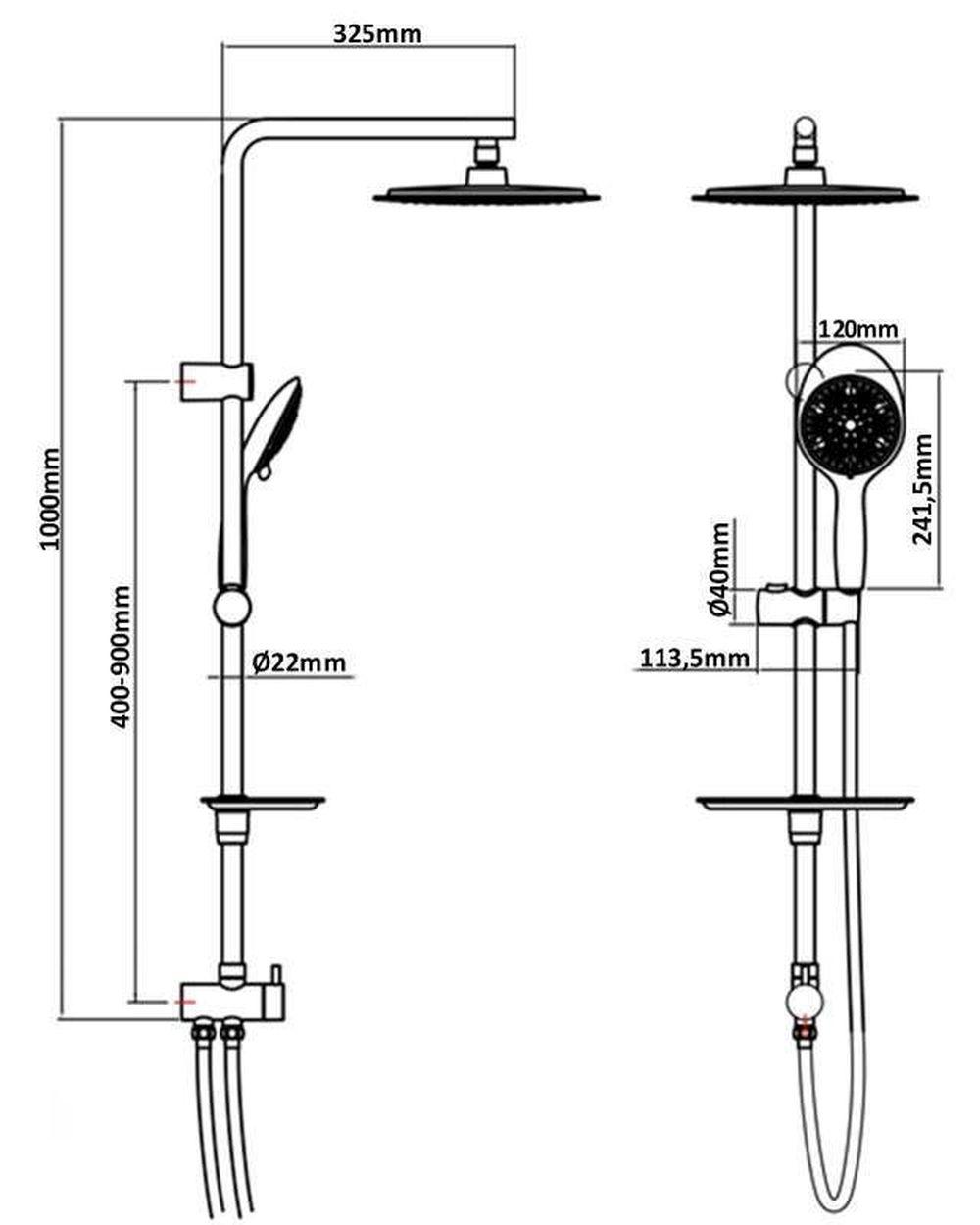 duschset duschkopf duschsystem brause duscharmatur regendusche duschstange chrom ebay. Black Bedroom Furniture Sets. Home Design Ideas