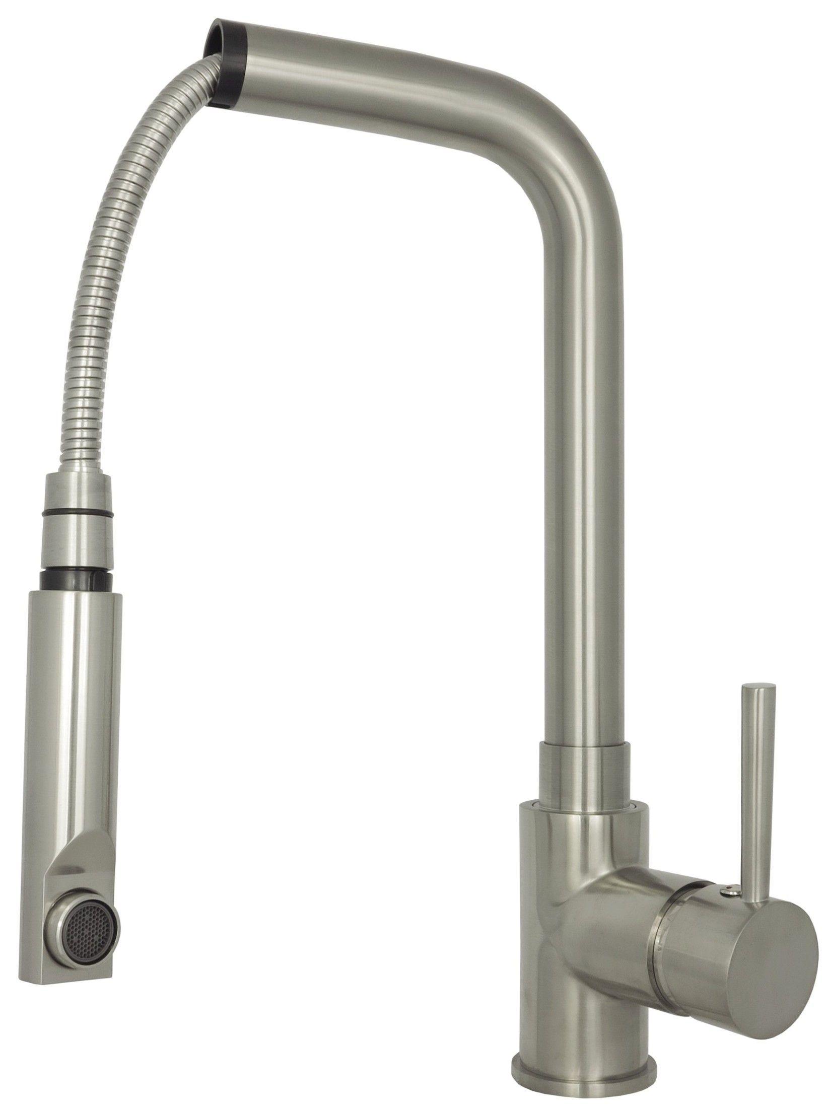ausziehbare Edelstahl Einhebelmischer Küchenarmatur Spültischarmatur Wasserhahn