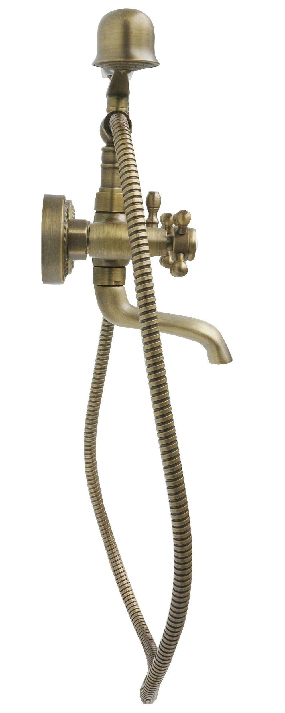 retro badewannen wannen armatur mischbatterie handbrause brauseschlauch in antik ebay. Black Bedroom Furniture Sets. Home Design Ideas