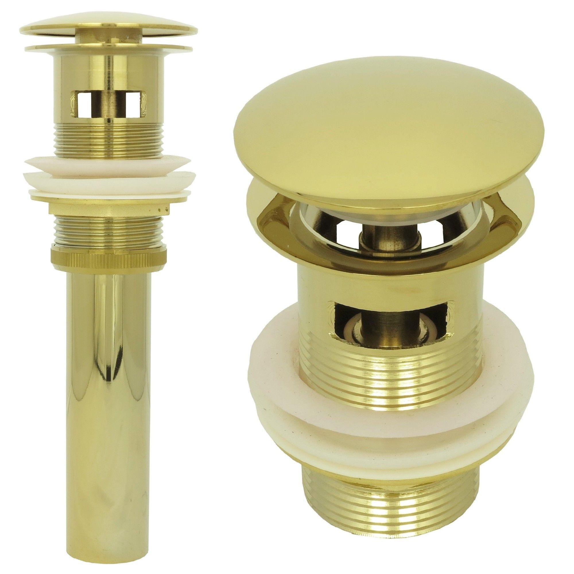 Pop Up Gold Waschtisch Ablaufgarnitur Ablaufventil Abfluss Ablauf
