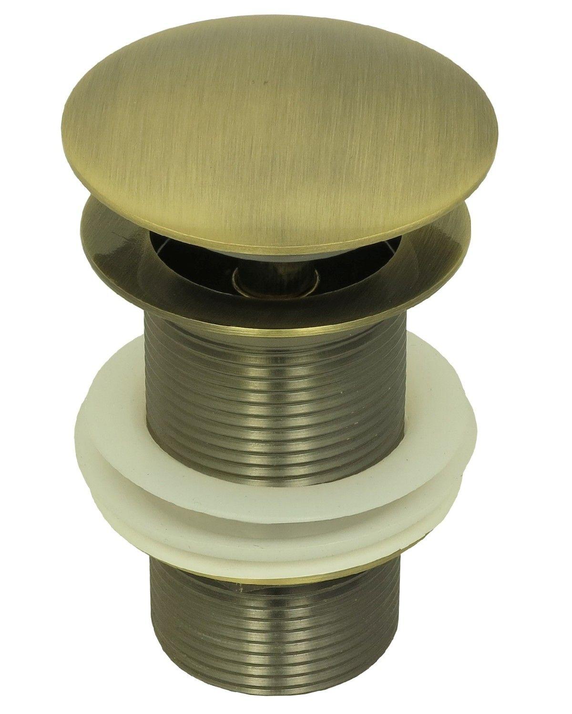 pop up waschtisch ablaufgarnitur ablaufventil abfluss ablauf push ventil bronze ebay. Black Bedroom Furniture Sets. Home Design Ideas