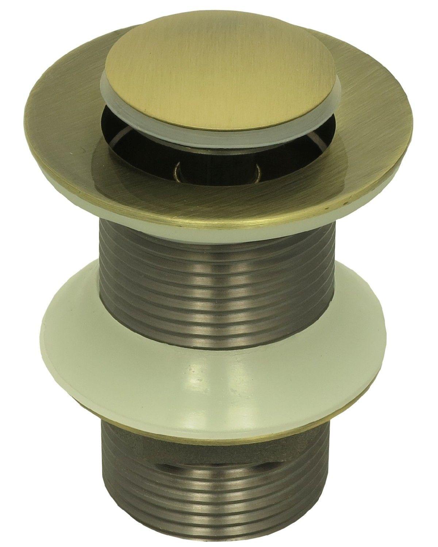 pop up ablaufgarnitur waschbecken ablauf ventil garnitur ohne berlauf in bronze 4260412959433. Black Bedroom Furniture Sets. Home Design Ideas