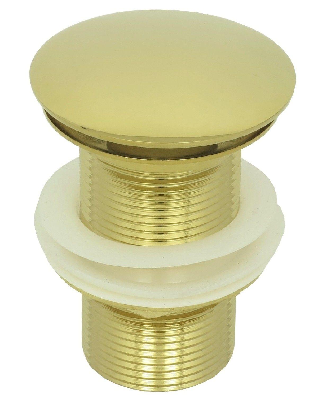 pop up waschtisch ablaufgarnitur ablaufventil abfluss ablauf push ventil gold ebay. Black Bedroom Furniture Sets. Home Design Ideas